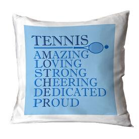 Tennis Throw Pillow - Mother Words