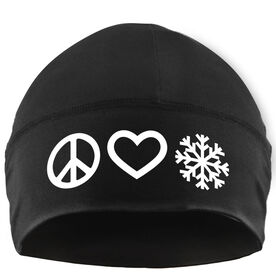 Skiing & Snowboarding Beanie Performance Hat - Peace Love Snow
