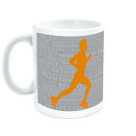 Running Ceramic Mug Inspiration Words Male