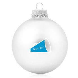 Cheer Glass Ornament Personalized Megaphone