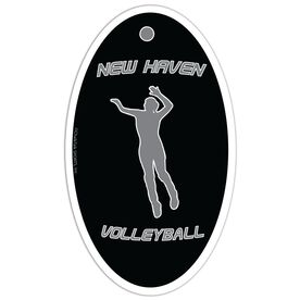 Volleyball Oval Car Magnet Personalized Spike