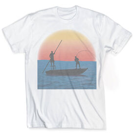 Vintage Fly Fishing T-Shirt - Sundown On The Water