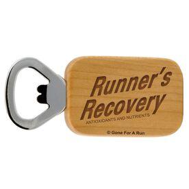 Runners Recovery Maple Bottle Opener