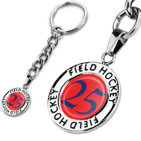 Field Hockey Circle Keychain Your Number