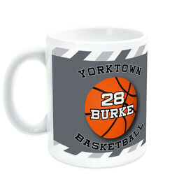 Basketball Ceramic Mug Personalized Player with Ball