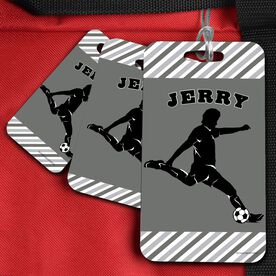 Soccer Bag/Luggage Tag Personalized Soccer Player Guy