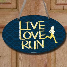 Live Love Run Decorative Oval Sign