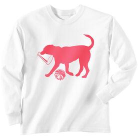 Cheerleading Tshirt Long Sleeve Coco The Cheer Dog