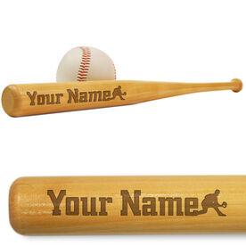Baseball Mini Engraved Bat Personalized Silhouette