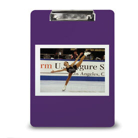 Figure Skating Custom Clipboard Figure Skating Your Photo Solid Background