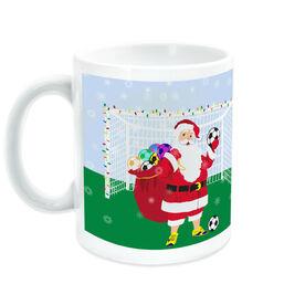 Soccer Ceramic Mug Santa