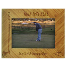 Golf Bamboo Engraved Picture Frame Your Text