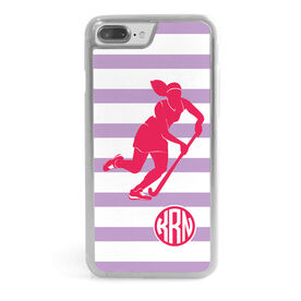 Field Hockey iPhone® Case - Shootout Stripes With Monogram