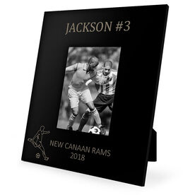 Soccer Engraved Picture Frame - Name and Number (Guy Player Silhouette)