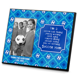 Soccer Photo Frame Soccer Mom Poem Pattern