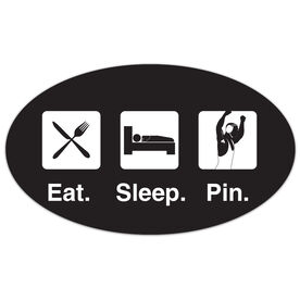 Wrestling Oval Car Magnet Eat Sleep Pin