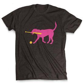 Softball Tshirt Short Sleeve Mitts the Softball Dog