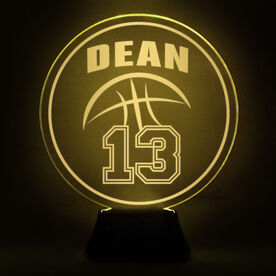 Basketball Acrylic LED Lamp Name With Jersey Number