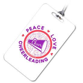 Cheerleading Bag/Luggage Tag Peace Love Cheerleading (Flowers)