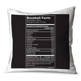Baseball Throw Pillow Baseball Facts