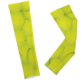 Tennis Ball Background Arm Sleeves