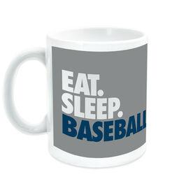 Baseball Ceramic Mug Eat Sleep Baseball Bold