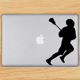 Removable Laptop Decal Running Laxer Silhouette