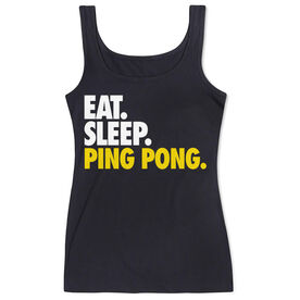 Ping Pong Women's Athletic Tank Top Eat. Sleep. Ping Pong.