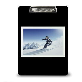 Skiing & Snowboarding Custom Clipboard - Your Photo Solid Background