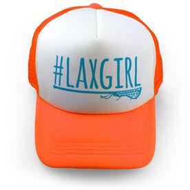 Girls Lacrosse Trucker Hat - #LAXGIRL