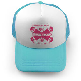 Snowboarding Trucker Hat - Personalized Crest