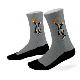Hockey Printed Mid Calf Socks Headless Hockey