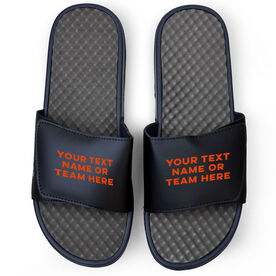 Sport Navy Slide Sandals - Your Text