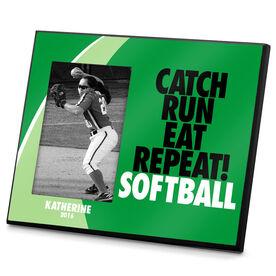 Softball Photo Frame Catch Run Eat Repeat Softball