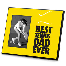 Tennis Wood Frame Best Dad Ever