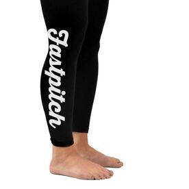 Softball Leggings Fastpitch Script