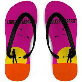 Girls Lacrosse Flip Flops Endless Summer