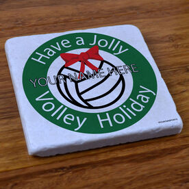 Volleyball Holiday - Marble Stone Coaster