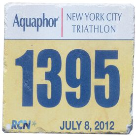 Your Tri Bib on Your Coaster BibCOASTERS - Stone Coaster