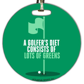 Golf Circle Bag/Luggage Tag A Golfer's Diet