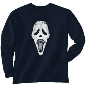 Guys Lacrosse Long Sleeve T-Shirt - Ghost Face
