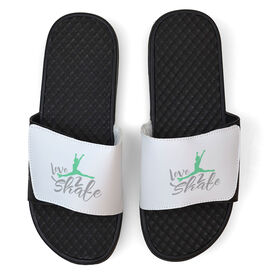 Figure Skating White Slide Sandals - Love 2 Skate