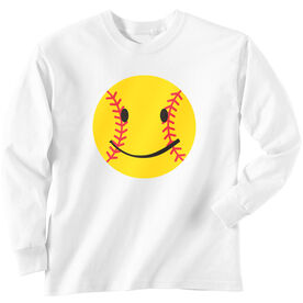 Softball T-Shirt Long Sleeve Smiley
