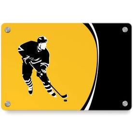 Hockey Metal Wall Art Panel - Player Pride