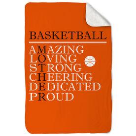 Basketball Sherpa Fleece Blanket - Mother Words