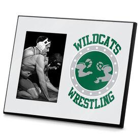 Wrestling Photo Frame Personalized Wrestling Crest