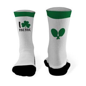 Ping Pong Mid Calf Printed Socks I Shamrock Ping Pong