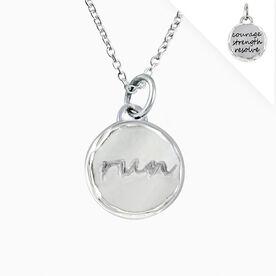 Livia Collection Sterling Silver Run Token Necklace