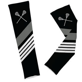 Lacrosse Printed Arm Sleeves Lacrosse Sticks with Stripes