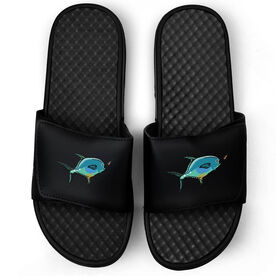 Fly Fishing Black Slide Sandals - Permit On The Fly